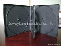 10mm 4disc VCD/DVD case,black,