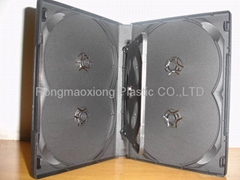 20mm 6 disc DVD case with 1 tray,Black 190x135x20mm