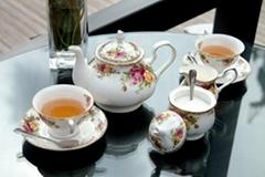 供应骨瓷咖啡具英国皇家玫瑰