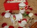 供應骨瓷正大蓋杯英國皇家玫瑰+調羹 3