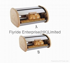 帶木邊麵包箱