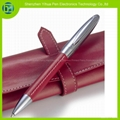 Leather roller pen with leather case