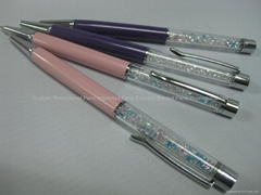 Pink diamond ball-point pen