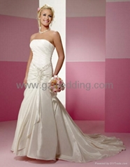quality satin bridal/wedding dress/evening dress/cocktail /bridesmaids dress
