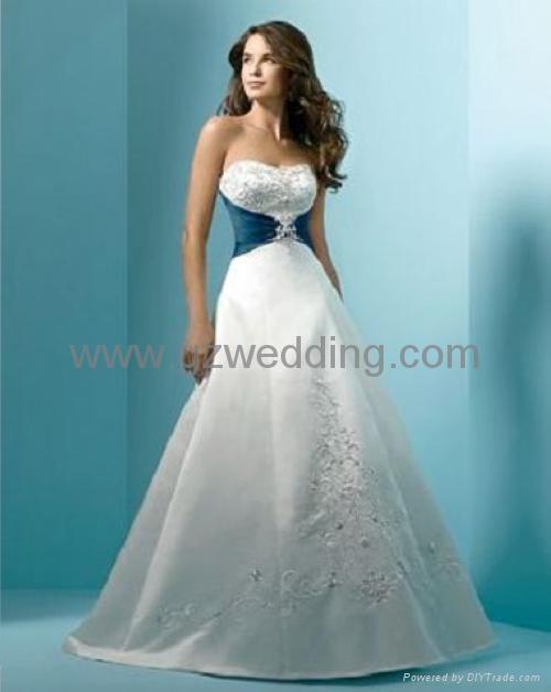 fashion bridal gown/wedding dress/bridesmaids dress/flower girl ...