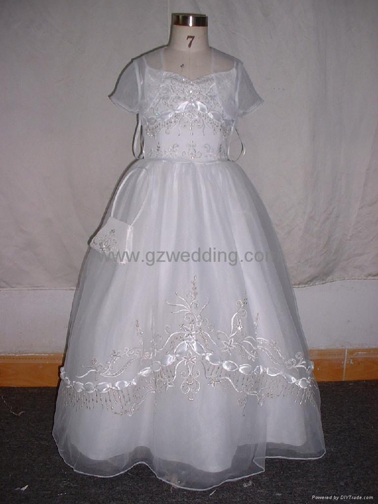 flower girl dress in competitive price  2