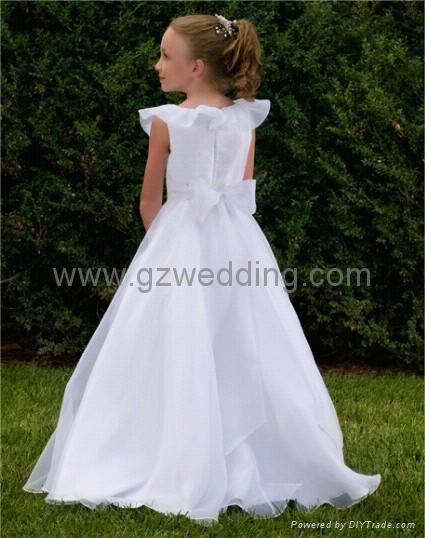 Flower girl dress wedding dresses evening dress wholesale for Guangzhou wedding dress market