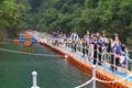 Floating bridge and walkway