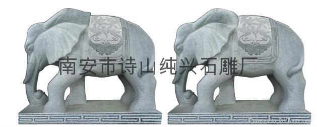 青石动物工艺品石象雕塑
