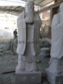 Ancient granite stone statue of Laozi