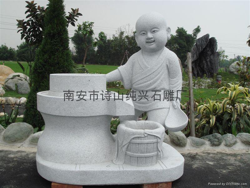 花岗岩石雕小沙弥雕塑
