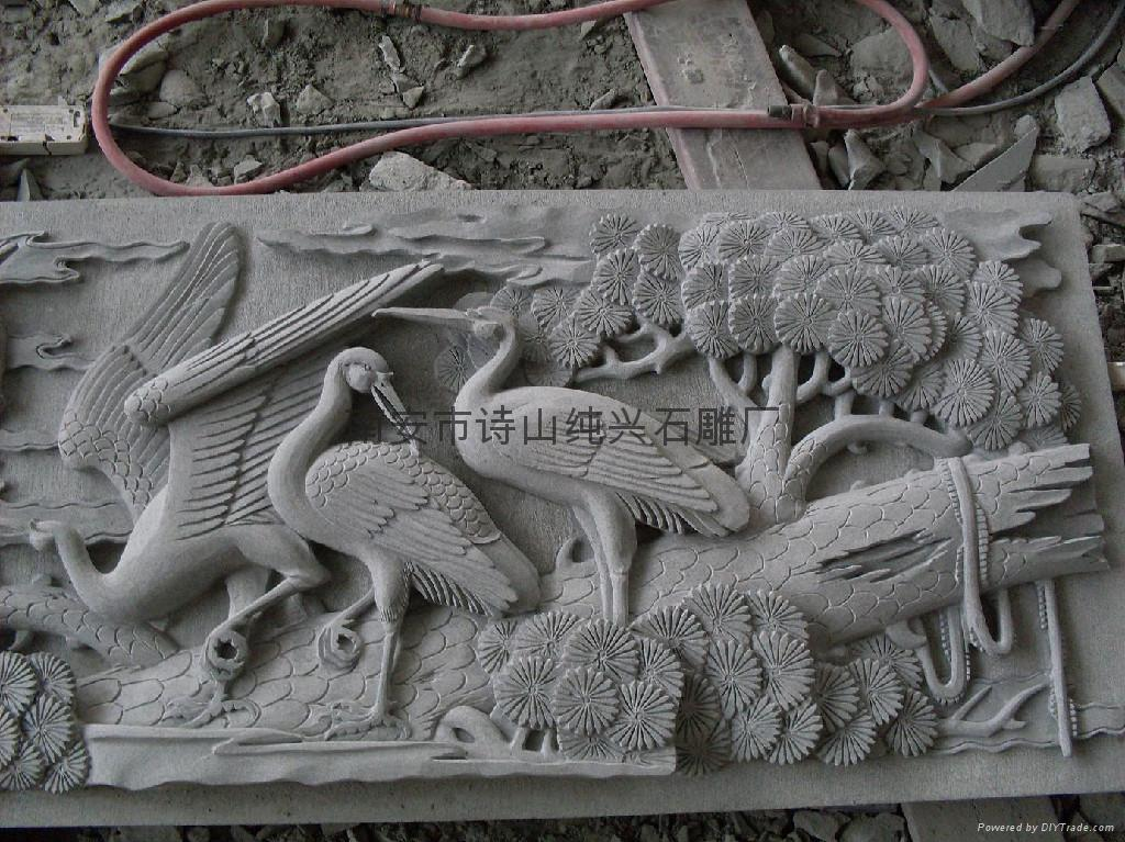 Bluestone stone carving animal relief songhe yannian sd