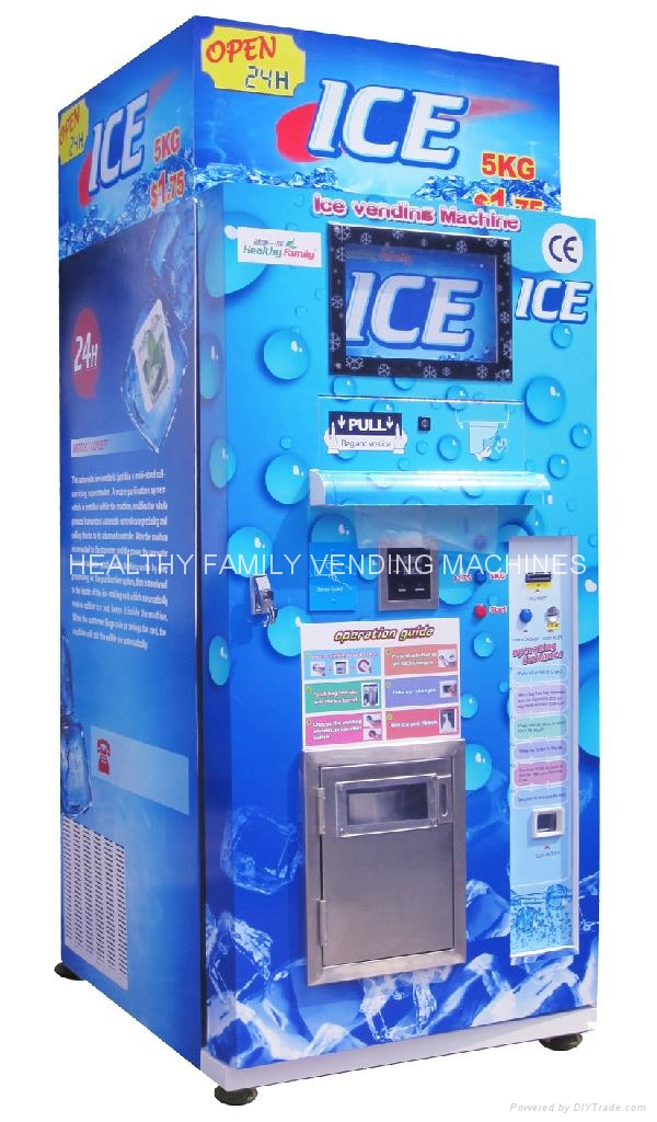 Automatic Ice Vending Machine Hlq I 1000lbs Healthy