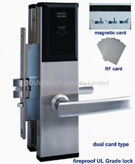 Magnetic card lock