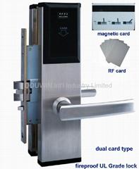Magnetic card lock