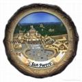 Souvenir plate 15cm Polyresin plate Resin souvenir plate