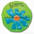 poly-resin garden fun floral stepping stone