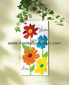 polyresin colorful floral adornments