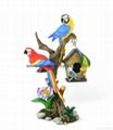 Polyresin parrots,sitting parrots,parrots on branch