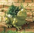 polyresin floating frog,frog crafts,garden frog