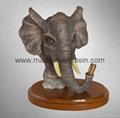 animal polyresin,polyresin elephant, animal statue