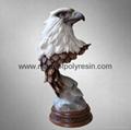 polyresin eagle, resin eagle statue