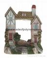 polyresin house frame,resin building frame,castle plaque