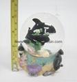 polyresin/polystone dolphin snowball,snow globe