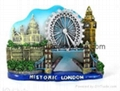 Resin castles, resin forts, resin historic houses magnet