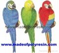 Parrot 3D wall sculptures/wall plaque/parrots hanging