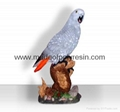Polyresin African grey parrot crafts/figurine/figure