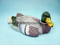 Polyresin duck garden decoration