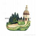polyresin country house,resin miniature building,house miniature model
