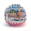 polyresin mini architecture castle model, bell town miniature crafts