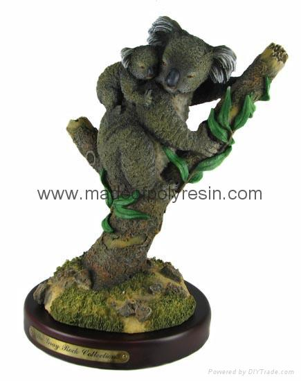 polyresin koala figurine resin koala statue
