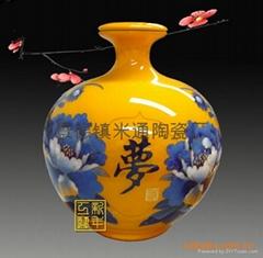 麦杆画酒瓶1斤3斤5斤10斤陶瓷酒瓶