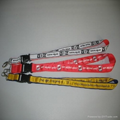 Lanyards with Satin Ribbon Stitched
