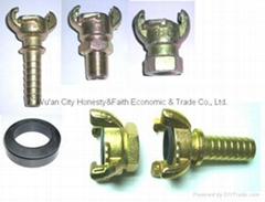 kc nipple air hose end coupling double bolts clamp