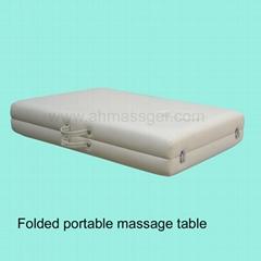 Massage table folded
