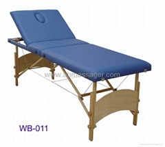 massage table 3-section with adjustable backrest