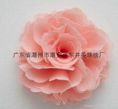 手工雪紡花朵胸花