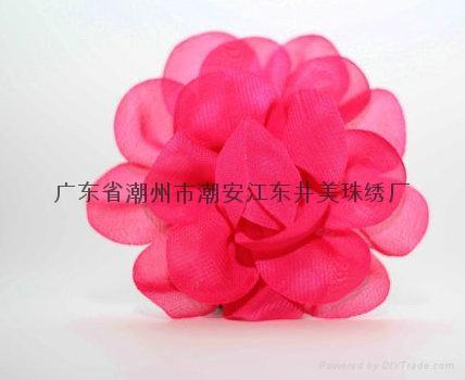 Handmade chiffon flowers 2