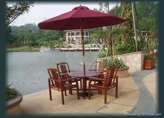 室外家具 标签: 户外木桌椅图片