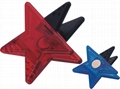 5 STARS SHAPE STATIONERY CLIP WITH