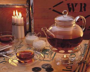 HEAT-RESISTANT GLASS TEA  POT SET 1