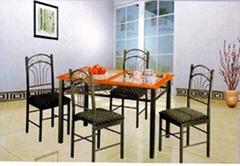 Sc6032 metal frame dining set