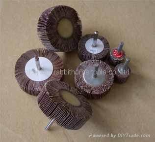 abrasive flap wheel with shaft 1