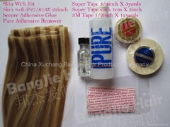 hand tied skin weft full kit glue remover tape (Hot Product - 4*)