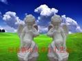 漢白玉小天使人物彫塑