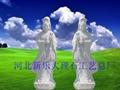 漢白玉觀音彫塑